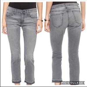 Current Elliott Gray The Cropped Straight Jeans 24
